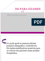 Posições para exame