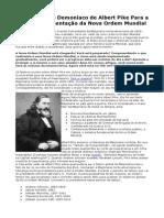 O Plano Demoníaco de Albert Pike Para a Implementação da Nova Ordem Mundial