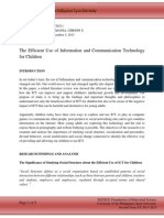 The Efficient Use of Information and Communication Technology for Children