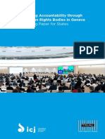 Promoting Accountability through the Human Rights Bodies in Geneva A Working Paper for States