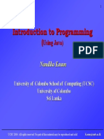 Introduction to programming using JAVA - lecture 4