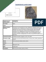 Descripcion de La Roca Ignea