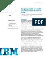 Cinq impératifs prédictifs pour maximiser la valeur client