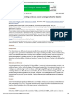 Education and Implementing Evidence-based Nursing Practice for Diabetic Patients