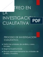 MUESTREO EN LA INVESTIGACIÓN CUALITATIVA