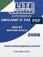 Unicamp 08 Fase2 Mat Ing Elite