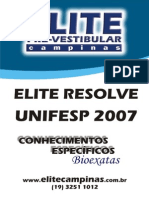 Unifesp Ce-bioexatas 2007 ELITE