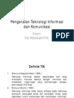 Materi 01 - Pengenalan Teknologi Informasi Dan Komunikasi