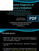 Noninvasive Diagnosis of Pulmonary Embolism