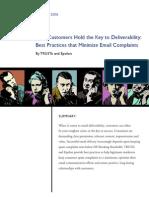TRUSTe/Epsilon Whitepaper - Best Practices that Minimize Email Complaints