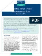 Columbia River Treaty Local Governments' Committee Columbia River Treaty Recommendations