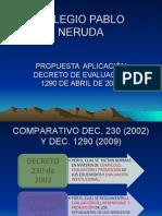 Colegio Pablo Neruda Prop. Evaluacion