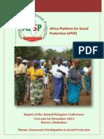 Annual Delegates Conference - Report