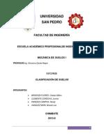 Trabajo de investigacion - CLASIFICACIÓN DE SUELOS