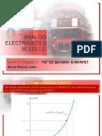 Analog Electronics II Week 5 Chp 2 (Dc Biasing) Cont'