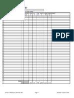 Process Measuring Form