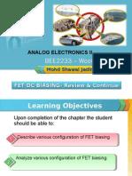 Analog Electronics II Week 4 Chp 2 (Dc Biasing) Cont'
