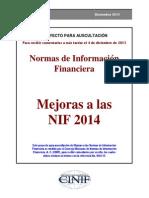 Mejoras a Las NIF 2014
