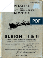 Pilot's and Engineer's Notes- Sleigh I & II