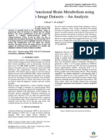 A Study on Functional Brain Metabolism using PET Scan Image Datasets – An Analysis