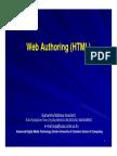 Web Authoring (HTML)