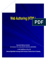 Web Authoring (HTML)