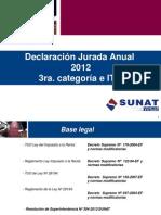 Renta Tercera Categoria 2012