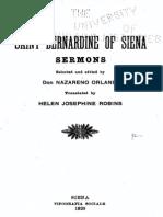 St. Bernardine of Siena - Sermons