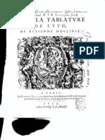 Etienne Moulinié - Airs de cour- 1er Livre 1624