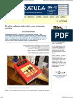 El infrarrealismo, subversión como propuesta estética, por Eva Castañeda