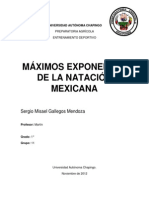 MÁXIMOS EXPONENTES DE LA NATACIÓN MEXICANA