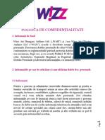 POLITICA DE CONFIDENȚIALITATE