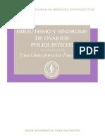 Hirsutism p Cos Spanish