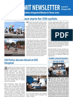 Unmit Newsletter 30 August 2009