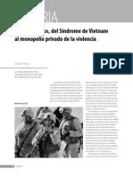 Síndrome de Vietnam al monopolio privado de la violencia - EEUU
