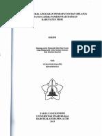 Analisis Kinerja Anggaran Pendapatan Dan Belanja Kabupaten (APBK) Pemerintah Daerah Kabupaten Pidie