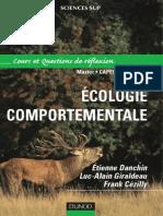 Ecologie comportementale - Cours et questions de réflexion