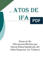 Datos de Ifa Diccionario Hierbas Eshus