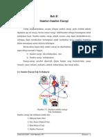 Bab II Sumber-Sumber Energi