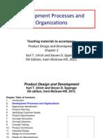 Development Processes and Organizations