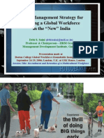People Management Strategy for Building a Global Workforce in the New India