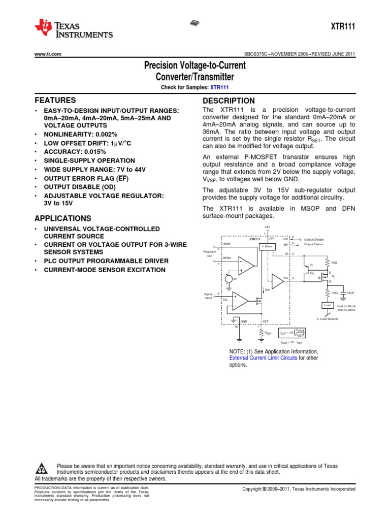 Voltage To Current Converter Field Effect Transistor Printed Limit Circuit Board