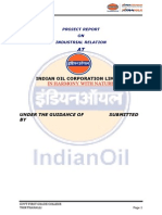 Indian Oil Corporation Limited Project Report on Industrial Relation