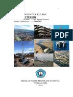 Buku Pengantar Kuliah Geologi Teknik