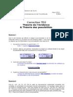 TD2-Corr-Theorie de L_evidence Et Theorie Des Possibilites