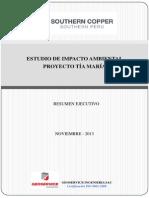 Minera Southern Peru Cooper Corporation - Proyecto Tia Maria - Resumen Ejecutivo (Español) - V 2.0