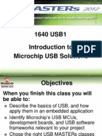 Masters 2012 - Introduction to Microchip USB Solutions