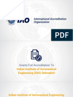 IAO fully accredits Indian Institute of Aeronautical Engineering