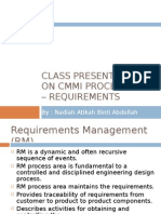 Class Presentation on CMMI Process Area – Requirements