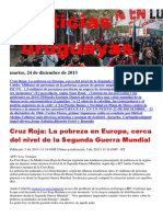 Noticias Uruguayas Martes 24 de Diciembre Del 2013